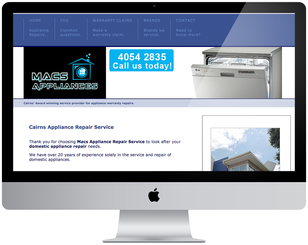 MACS Appliances Repairs and Service - Cairns Appliance Repairs and Service